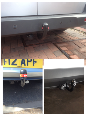 Swan-nect tow bar fitted